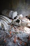 övergiven gammal tvtappning Arkivfoton