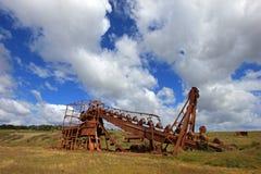 Övergiven guld muddrar, Tierra Del Fuego, Chile Royaltyfri Fotografi