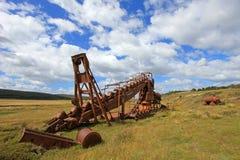 Övergiven guld muddrar, Tierra Del Fuego, Chile Fotografering för Bildbyråer