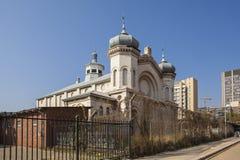 Övergiven historisk judisk synagoga i centrala Pretoria, Sout Afr Fotografering för Bildbyråer
