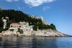 Övergiven hotellBelvedere för 5 stjärna royaltyfria foton