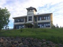 övergiven husskola royaltyfri fotografi