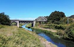 Övergiven huvudvägbro Arkivfoto