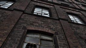 Övergiven industribyggnad fotografering för bildbyråer