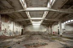Övergiven industriell byggnad Arkivbild