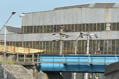 Övergiven industriell fabriksdetalj Royaltyfri Fotografi