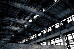 övergiven industriell interior Fotografering för Bildbyråer