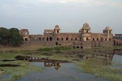 övergiven islamisk slott Arkivfoto