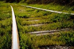 övergiven järnväg Arkivfoto