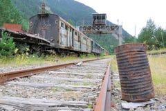 övergiven järnväg Arkivbilder