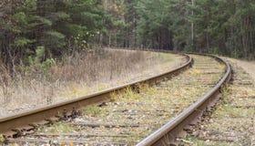 övergiven järnväg Arkivbild