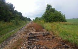 övergiven järnväg Royaltyfri Bild