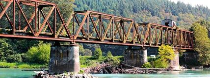 Övergiven järnvägbro Royaltyfria Bilder