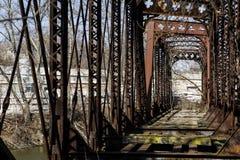 Övergiven järnvägbro - Pennsylvania Royaltyfri Foto