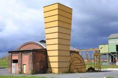 Övergiven kolgruva i Ahlen, Tyskland Arkivbild