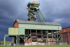 Övergiven kolgruva i Ahlen, Tyskland Arkivbilder