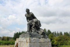 Övergiven kommunistisk monument i Bulgarien, Eastern Europe Royaltyfri Foto