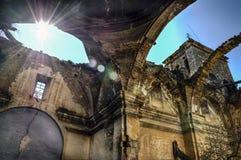 övergiven kyrka arkivbild