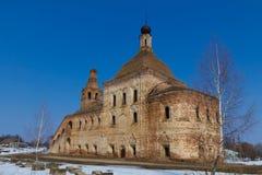 övergiven kyrka royaltyfri bild
