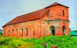 Övergiven kyrka av Boris och Gleb i Rostov Veliky, Yaroslavl region av Ryssland arkivfoton