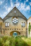 Övergiven kyrka i Banostor från Serbien Fotografering för Bildbyråer