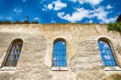 Övergiven kyrka i Banostor från Serbien Arkivbilder