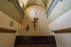 Övergiven kyrka någonstans i Spanien Arkivbild
