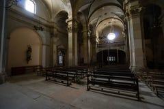 Övergiven kyrka någonstans i Spanien Royaltyfri Foto