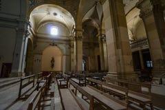 Övergiven kyrka någonstans i Spanien Fotografering för Bildbyråer