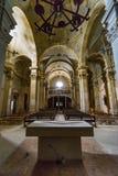 Övergiven kyrka någonstans i Spanien Arkivfoton