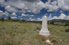 övergiven kyrkogård Royaltyfria Bilder