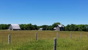 övergiven lantgård Arkivbilder