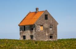 Övergiven lantgård i Island Fotografering för Bildbyråer