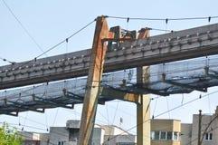 Övergiven linje för koltrans. Royaltyfri Foto