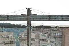 Övergiven linje för koltrans. Arkivfoton