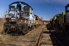 Övergiven lokomotiv - drev - Ohio royaltyfria foton