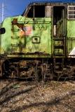 Övergiven lokomotiv - drev - Ohio royaltyfri fotografi