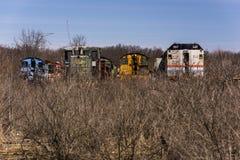 Övergiven lokomotiv - drev - Ohio royaltyfri foto