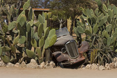 Övergiven medelgårdkonst på patiensen, Namibia Royaltyfri Bild