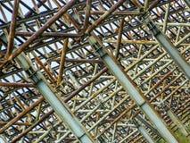 Övergiven metalllantgård Arkivfoto