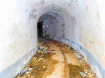 Övergiven militär tunnel 1 Arkivbild