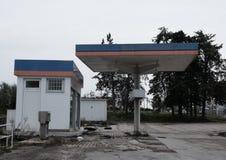 övergiven petrolstation Royaltyfri Foto