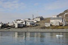 övergiven polar station Royaltyfria Foton