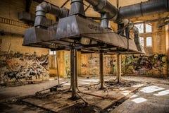 Övergiven sjukhus och sanatorium Beelitz Heilstätten nära Berlin Fotografering för Bildbyråer