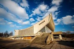 Övergiven slott av konserter och sportar Arkivbild