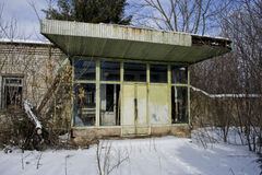 Övergiven sovjetisk kantin Fotografering för Bildbyråer