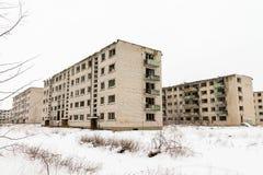 Övergiven spökstad Skrunda - 1 royaltyfri foto
