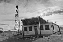 Övergiven stång på gammal Route 66 Fotografering för Bildbyråer