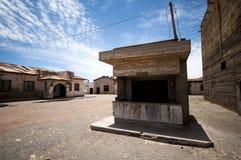 Övergiven stad - Humberstone, Chile fotografering för bildbyråer