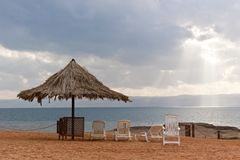 Övergiven strand Fotografering för Bildbyråer